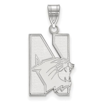 Northwestern University 10k White Gold Large Pendant | Logo Art | 1W002NWU