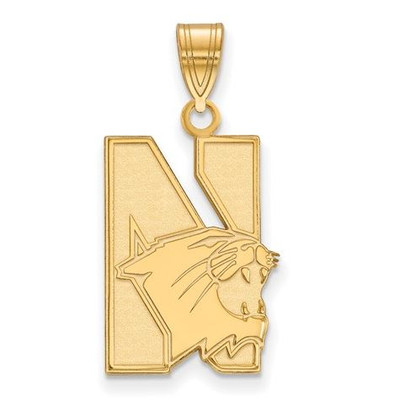 Northwestern University 10k Yellow Gold Large Pendant | Logo Art | 1Y002NWU