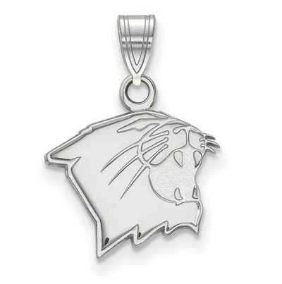 Northwestern University Wildcats 14k White Gold Small Pendant | Logo Art | 4W005NWU