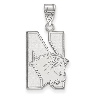 Northwestern University 14k White Gold Large Pendant | Logo Art | 4W002NWU