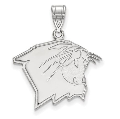 Northwestern University Wildcats 14k White Gold Large Pendant | Logo Art | 4W006NWU