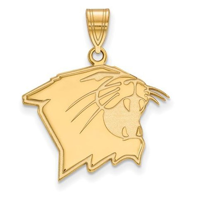 Northwestern University Wildcats 10k Yellow Gold Large Pendant | Logo Art | 1Y006NWU
