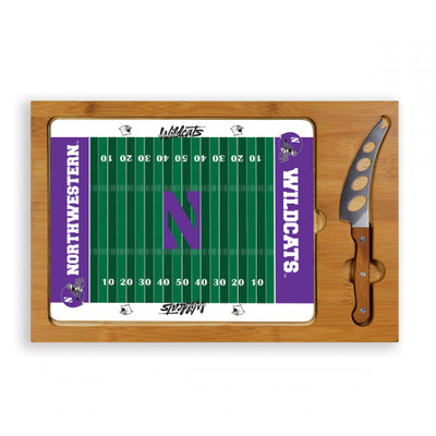 Northwestern Wildcats Icon Cheese Tray | Picnic Time | 910-00-505-434-0