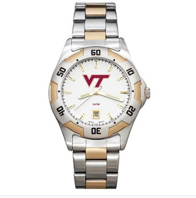 Virginia Tech All-Pro Men's Two-Tone Watch | Logo Art | VTE153