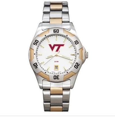 Virginia Tech All-Pro Men's Two-Tone Watch | Logo Art | VTE153