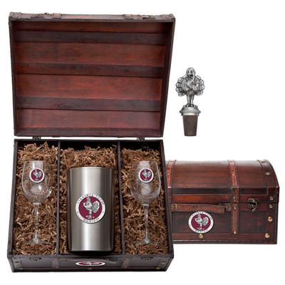 Virginia Tech Hokies Wine Chest Set | Heritage Pewter | WSC10162ER