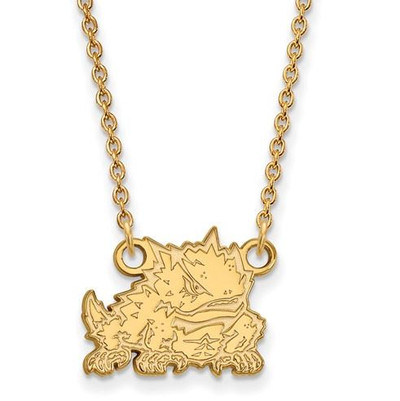 TCU Sterling Silver Gold Plated Small Pendant Necklace | Logo Art | GP024TCU-18