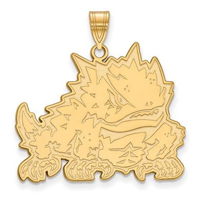 TCU 14k Yellow Gold Extra Large Pendant | Logo Art | 4Y039TCU