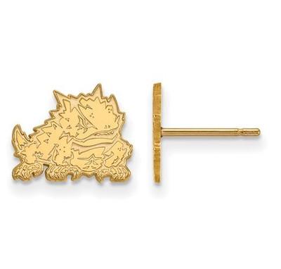 TCU 10k Yellow Gold Extra Small Post Earrings | Logo Art | 1Y022TCU
