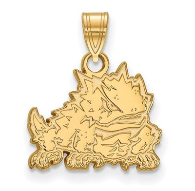 TCU 14k Yellow Gold Small Pendant | Logo Art | 4Y017TCU