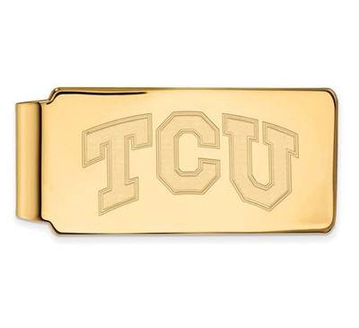 TCU Sterling Silver Gold Plated Money Clip | Logo Art | GP009TCU