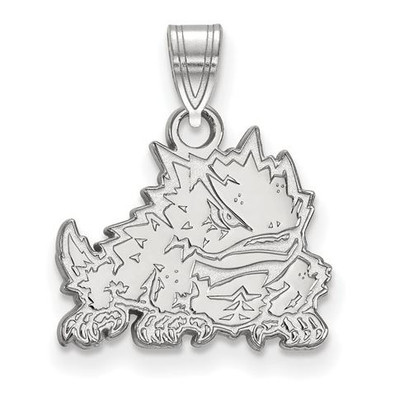 TCU 14k White Gold Small Pendant | Logo Art | 4W017TCU