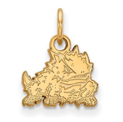 TCU 14k Yellow Gold Extra Small Pendant | Logo Art | 4Y016TCU