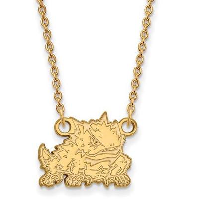 TCU 10k Yellow Gold Small Pendant Necklace | Logo Art | 1Y024TCU-18