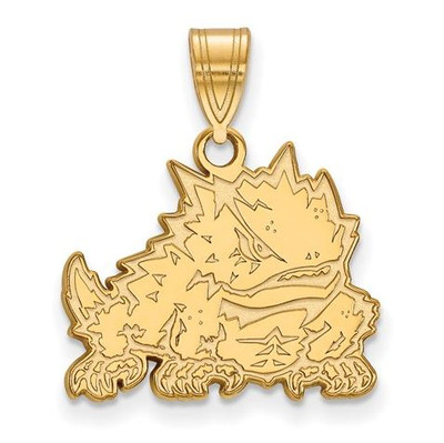 TCU Sterling Silver Gold Plated Medium Pendant | Logo Art | 1Y018TCU