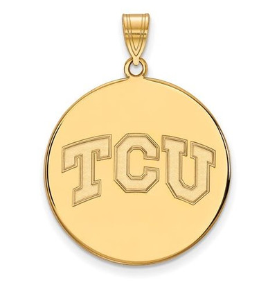 TCU 14k Yellow Gold Extra Large Disc Pendant | Logo Art | 4Y038TCU