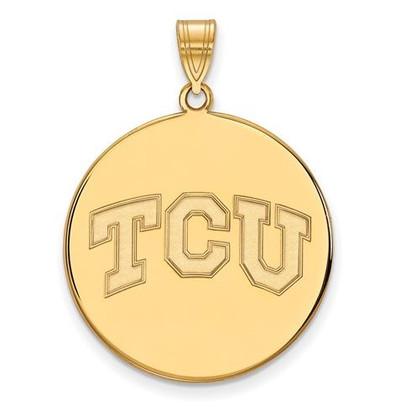 TCU 14k Yellow Gold Extra Large Disc Pendant | Logo Art | 4Y038TCU