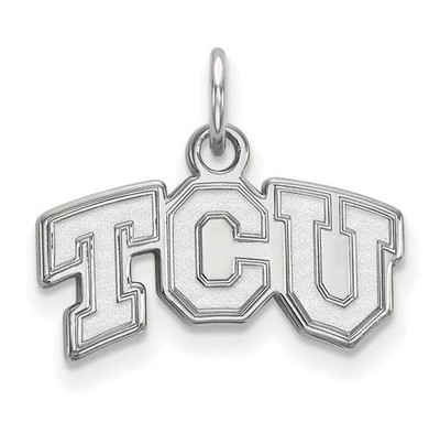 TCU Horned Frogs 14k White Gold Extra Small Pendant | Logo Art | 4W001TCU