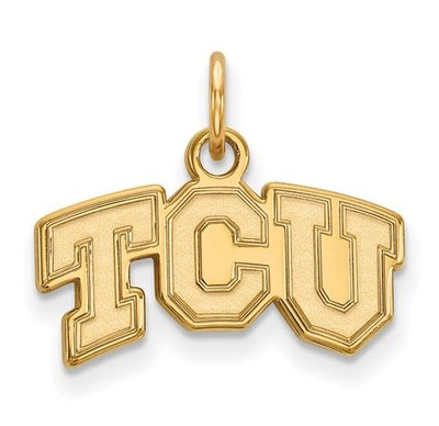 TCU 10k Yellow Gold Extra Small Pendant | Logo Art | 1Y001TCU