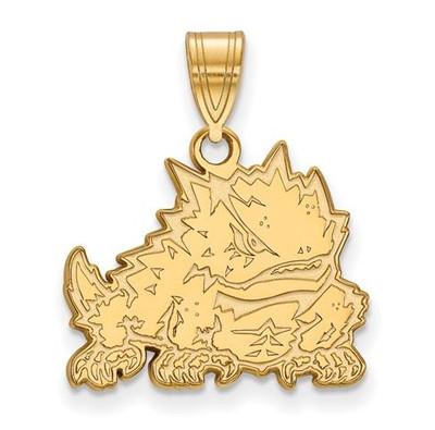 TCU Horned Frogs 10k Yellow Gold Medium Pendant | Logo Art | 1Y018TCU