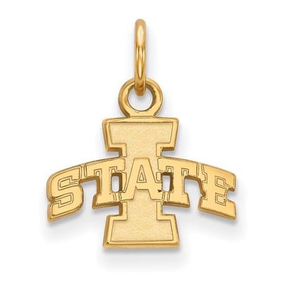 Iowa State University 10k Yellow Gold Extra Small Pendant | Logo Art | 4W030IAS