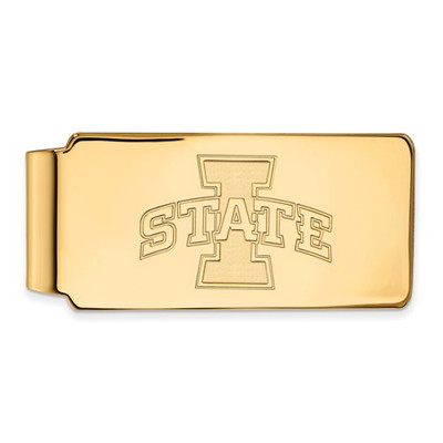 Iowa State University Sterling Silver Gold Plated Money Clip | Logo Art | IAS211
