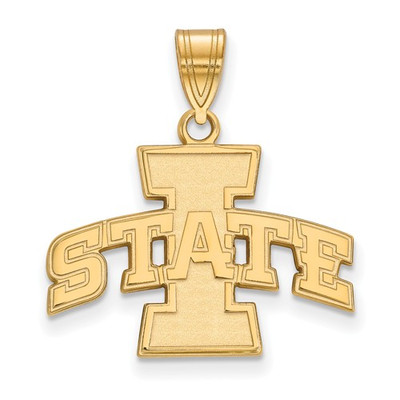 Iowa State University 14k Yellow Gold Medium Pendant | Logo Art | 4W030IAS