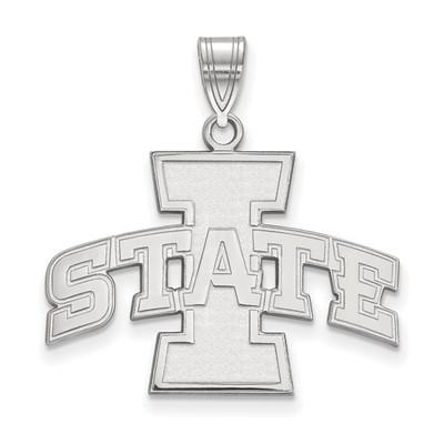 Iowa State University 14k White Gold Large Pendant | Logo Art | 4W004IAS