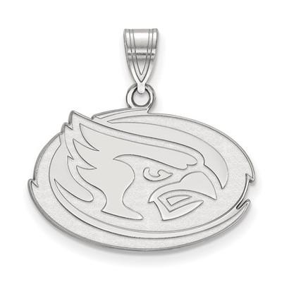 Iowa State University 14k White Gold Medium Pendant | Logo Art | 4W036IAS