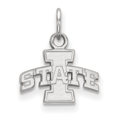 Iowa State University 10k White Gold Extra Small Pendant | Logo Art | 1W001IAS