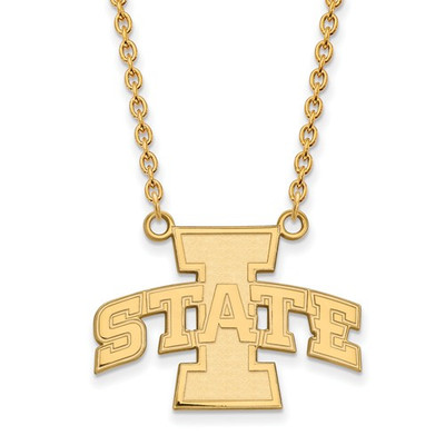Iowa State University 10k Yellow Gold Large Pendant Necklace | Logo Art | 1Y007IAS-18