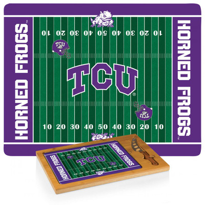TCU Horned Frogs Icon Cheese Tray | Picnic Time | 910-00-505-844-0