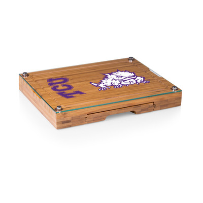 TCU Horned Frogs Concerto Bamboo Cutting Board | Picnic Time | 919-00-505-844-0