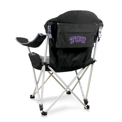 TCU Horned Frogs Reclining Camp Chair | Picnic Time | 803-00-175-844-0