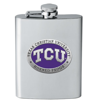 TCU Horned Frogs Flask | Heritage Pewter | FSK10270EP