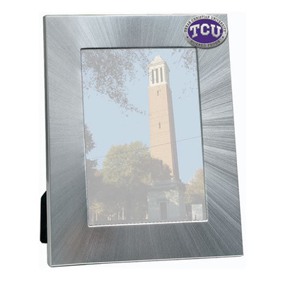 TCU Horned Frogs 4x6 Picture Frame | Heritage Pewter | FR10270EPMD