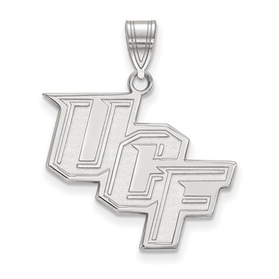 University of Central Florida 14k White Gold Large Pendant | Logo Art | 4W004UCF