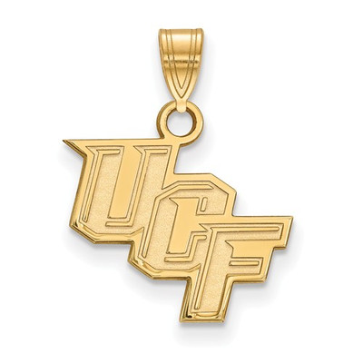University of Central Florida Knights 14k Yellow Gold Small Pendant | Logo Art | 4Y002UCF
