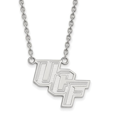 University of Central Florida 14k White Gold Large Pendant Necklace | Logo Art | 4W012UCF-18