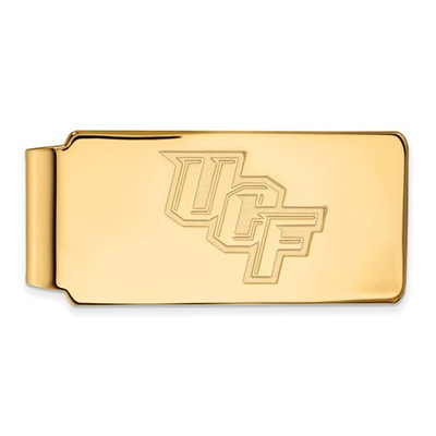 University of Central Florida Sterling Silver Gold Plated Money Clip | Logo Art | GP017UCF