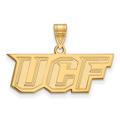 University of Central Florida Knights 14k Yellow Gold Medium Pendant | Logo Art | 4Y025UCF