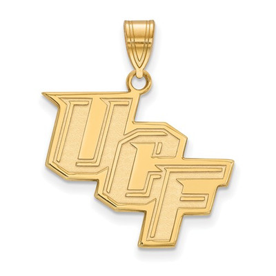University of Central Florida Knights 10k Yellow Gold Large Pendant | Logo Art | 4Y028UCF