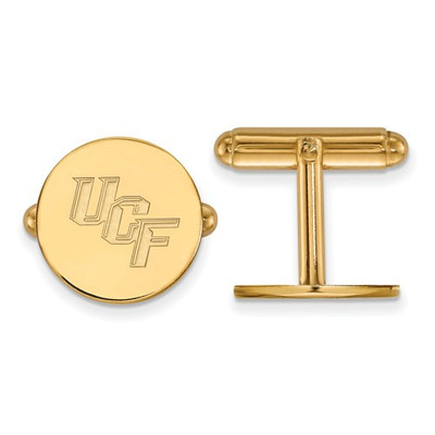 University of Central Florida Sterling Silver Gold Plated Cufflinks | Logo Art |GP010UCF
