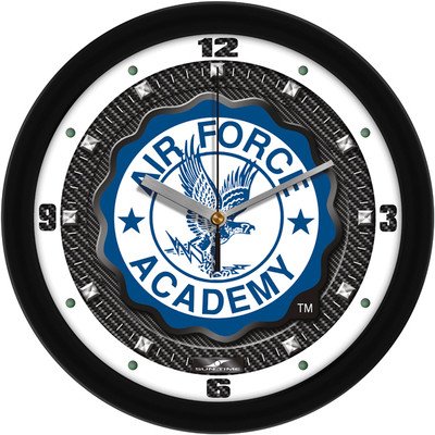 Air Force Academy Carbon Fiber Textured Wall Clock | SunTime | ST-CO3-AFF-CFCLOCK