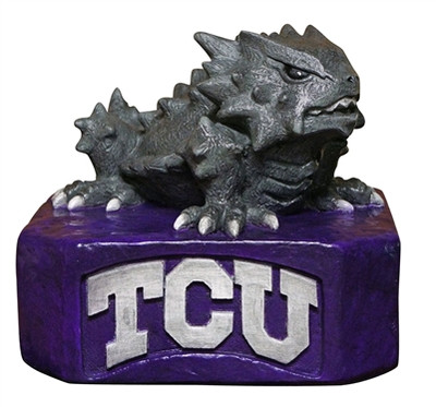 TCU Horned Frogs Mascot Garden Statue | Stonecasters | 2964HT