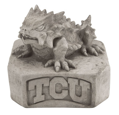 TCU Horned Frogs Vintage Mascot Garden Statue   Stonecasters   2964TR