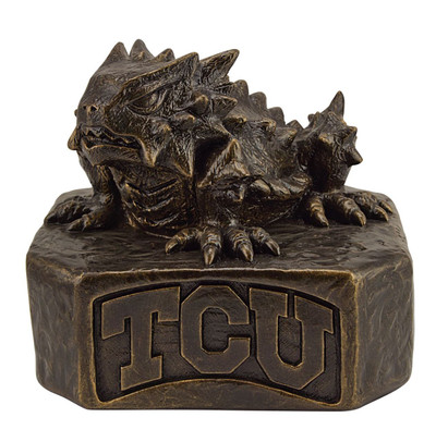 TCU Horned Frogs Bronze Mascot Garden Statue | Stonecasters | 2964BR