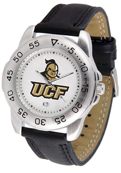 UCF Knights Men's Sport Leather Watc | SunTime | ST-CO3-UCF-SPORT2