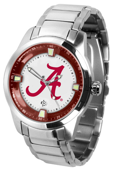 Alabama Crimson Tide Men's Titan Steel Watch | SunTime | ST-CO3-ACT-TITANM
