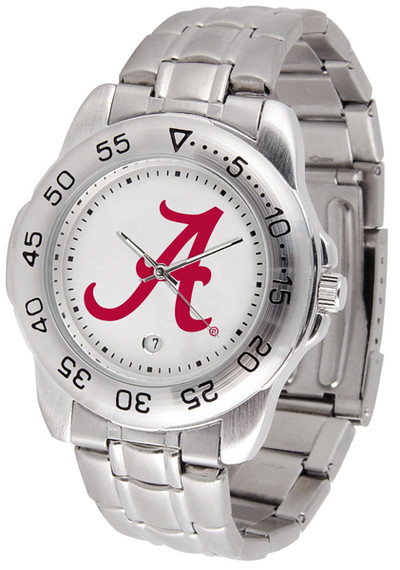 Alabama Crimson Tide Men's Sport Steel Watch | SunTime | 842542003169